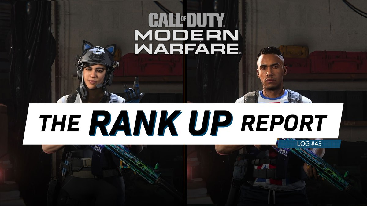 "The #ModernWarfare and #Warzone Rank Up Report 43: ✅ Become the Wild Card: Five Top Tips ✅ Operators of the Week: Gaz and Mara ✅ Gunsmith Custom Creation: ""Daylight"" AR And More! HERE: bit.ly/31YfFaa"