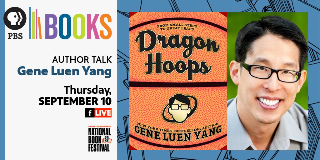 Join PBS Books and New York Times best selling author (as well as cartoonist and teacher!) @geneluenyang TONIGHT at 6:00 PM on our Facebook page. We will discover more about his latest graphic novel Dragon Hoops and his inspirations for his stories. https://t.co/uhYWWIRafo