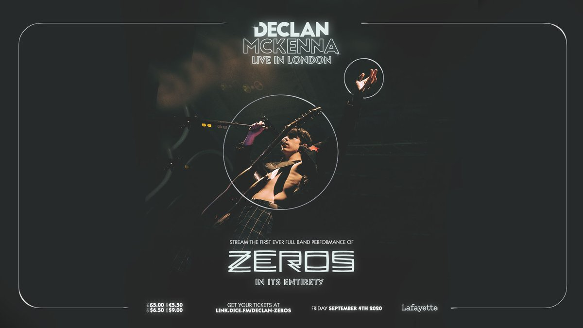 """Declan McKenna on Twitter: """"We're playing ZEROS in full tonight at 9pm BST.  See you later! https://t.co/h4vpsU7HG8… """""""