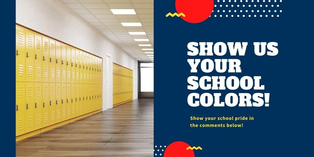 It's national #SchoolColorsDay!  Show us your school colors in the comments below!  #schoolpride #schoolcolors https://t.co/uNnH2gV24o