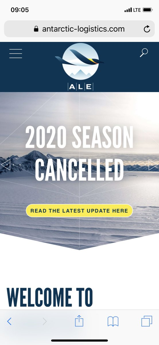 SOB! 😭😭😭 This means next years season is going to be a cluster (read: double the usual number) of climbers vying for the expedition spots. #antarctica 🇦🇶