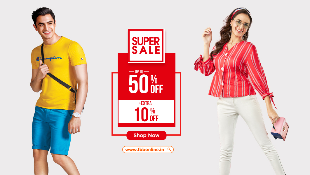 Exciting offers with #SuperSale available exclusively for this weekend. Avail UP TO 50% off and an EXTRA 10% discount while shopping for your favourite styles only on https://t.co/QGuGR7ZRna! Don't miss out. Shop now: https://t.co/RnbpkDR5Tk https://t.co/K2iSJownnT