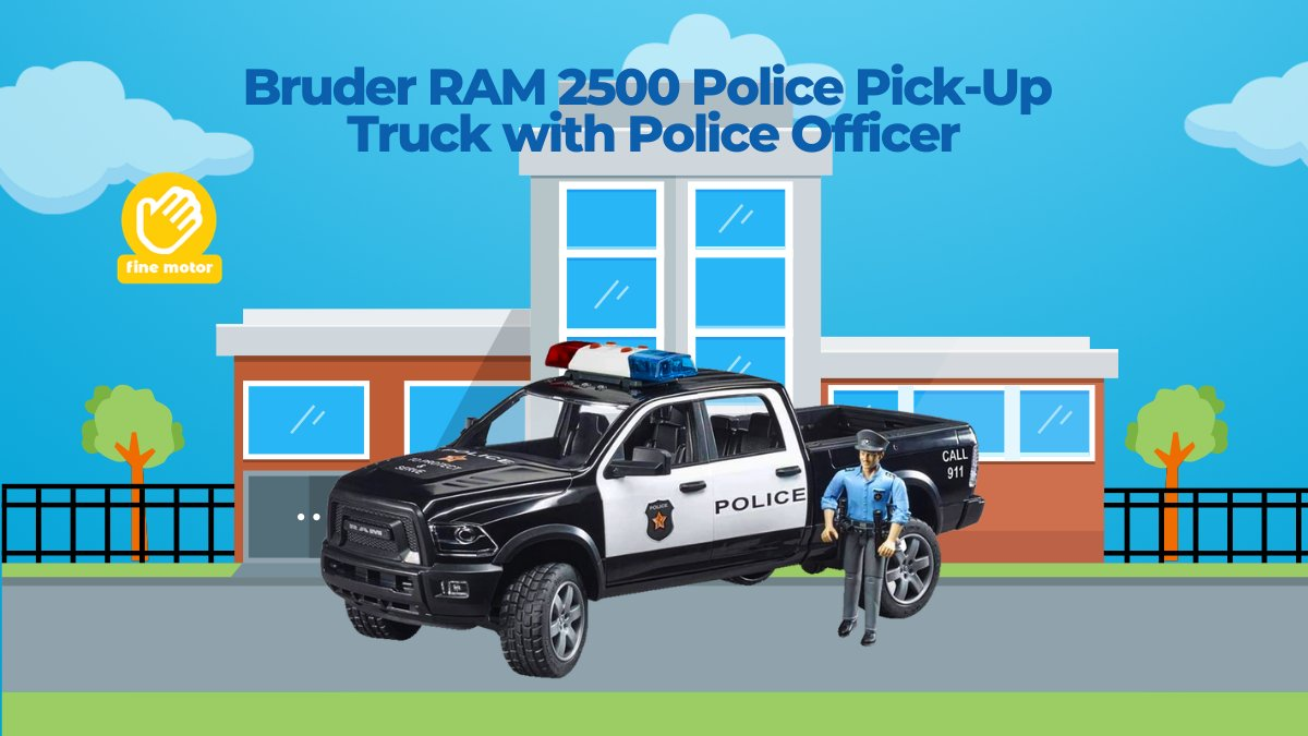 New! The BRUDER police force is being enhanced. BRUDER emergency services will now also be able to police hard-to-reach terrain outside the city limits thanks to a 4x4 police pick-up truck. #JrToyCompany #BruderToys #Police  🚓https://t.co/6IQEalzTE1 https://t.co/tOQqdJd87p