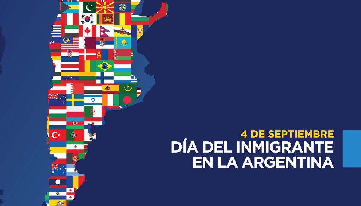 Feliz día a todos nuestros padres y abuelos #chubutenses, que por diversos motivos llegaron a #Argentina para hacerla su hogar y construir un mejor futuro. En el #DíaDelInmigrante ponemos en valor nuestras raices y cultura, resignificando costumbres y tradiciones. https://t.co/Nrw9P1XipC