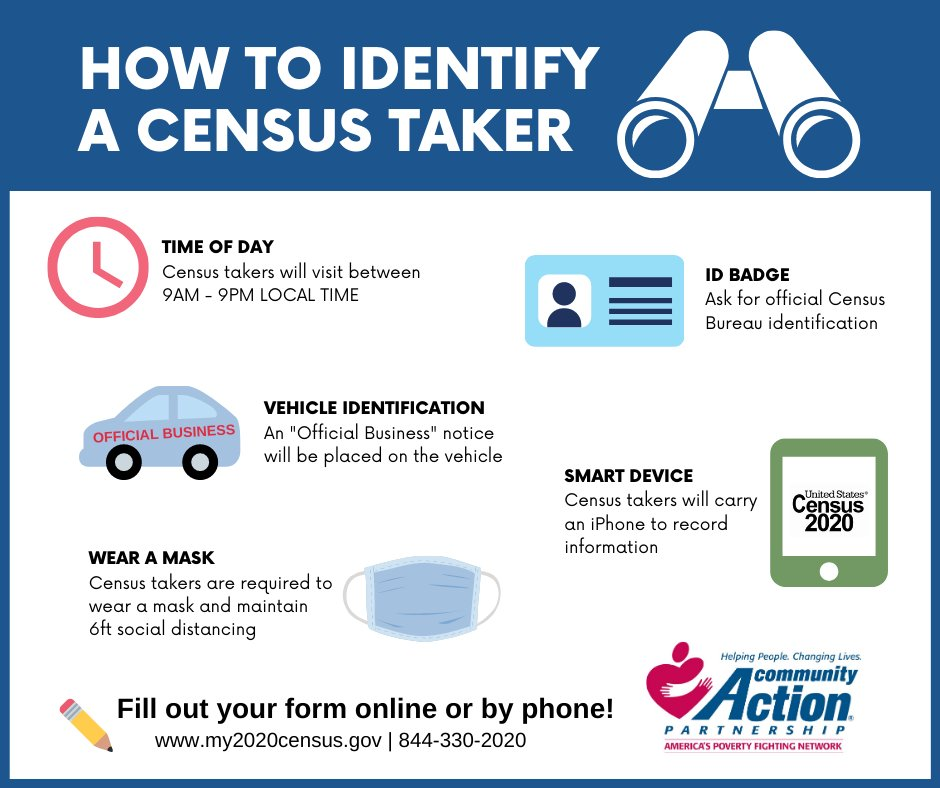 Are you nervous about the census coming to your door? Here are some quick tips for how to identify a census taker! #Census2020 https://t.co/IejLHTptlR