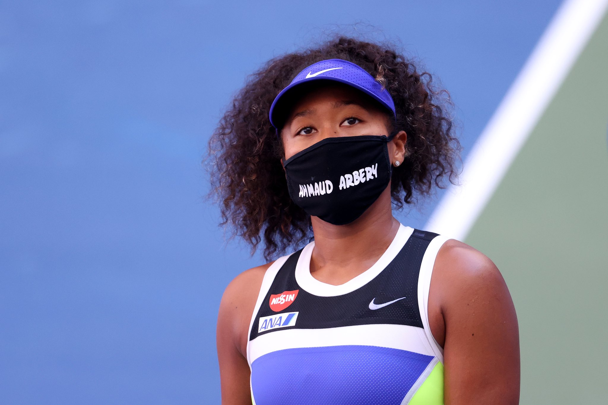 Naomi Osaka face mask at US Open 2020