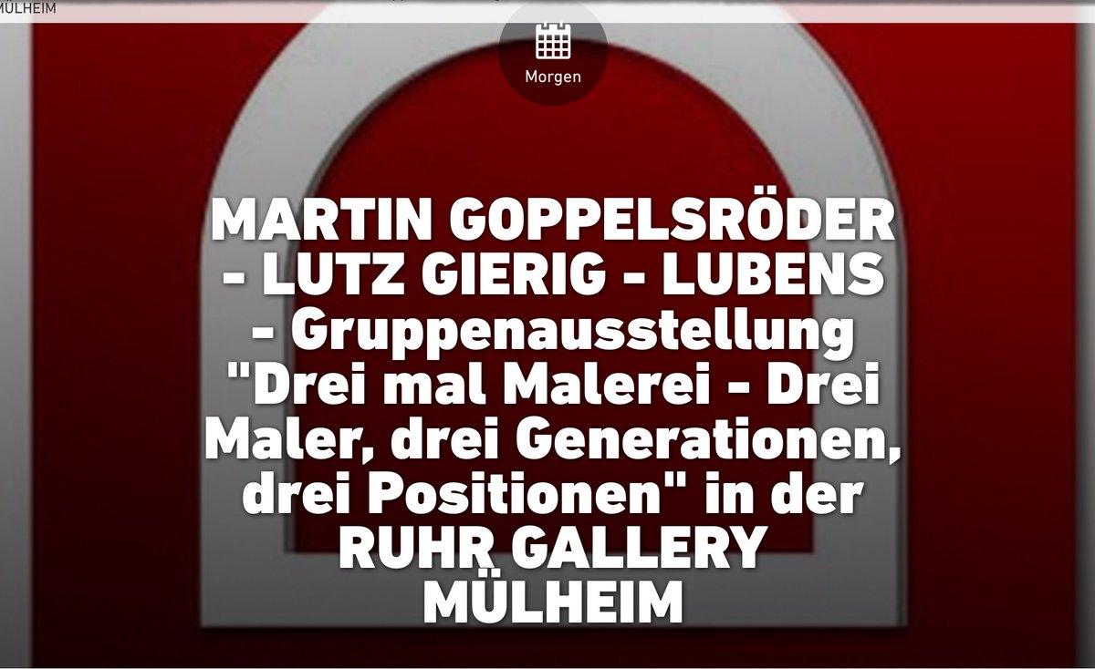 Sonntag 6.9.20 ab 16 h Vernissage #RuhrGallery #MeinMülheim #museumsunlocked #MuseumMülheim https://t.co/DvmUcWSKqa