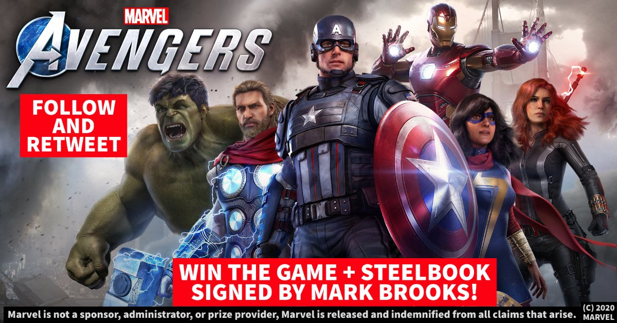 We are giving away 6 copies of Marvel's Avengers, featuring @BestBuy Steelbooks autographed by Mark Brooks!  Follow us and Retweet for a chance to win. Let us know your day 1 main in the replies!  Contest ends 9/8 at 9PM ET. #sponsored