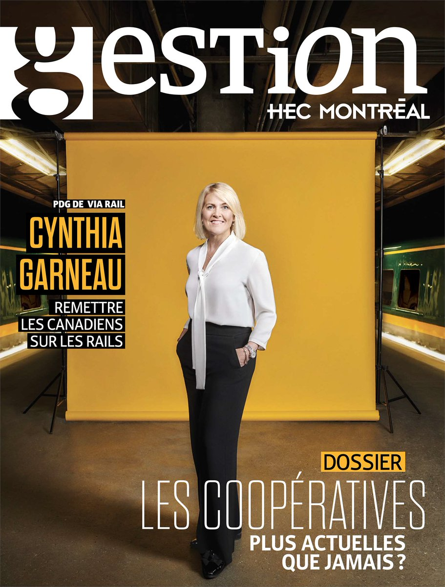 Within her first year at the head of @VIA_Rail, our President & CEO @Garneau_Cynthia has had to lead her team through two major crises. She sat down with @Revuegestionhec to discuss leadership, resilience, and resourcefulness in a time of uncertainty: https://t.co/eQ2MX4ZYUb https://t.co/S6WVH6X5DR