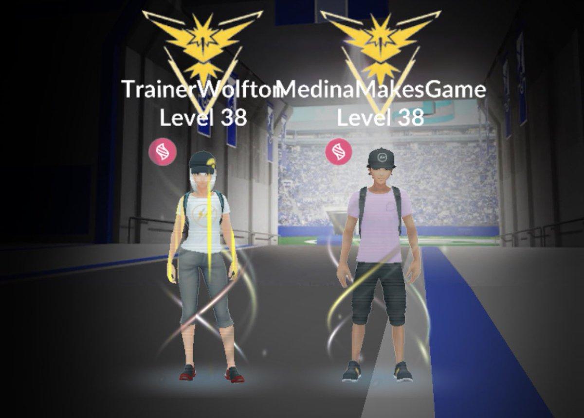 My wife hit level 38 today on #PokemonGo! #TeamMedina https://t.co/hGokxhTUCj