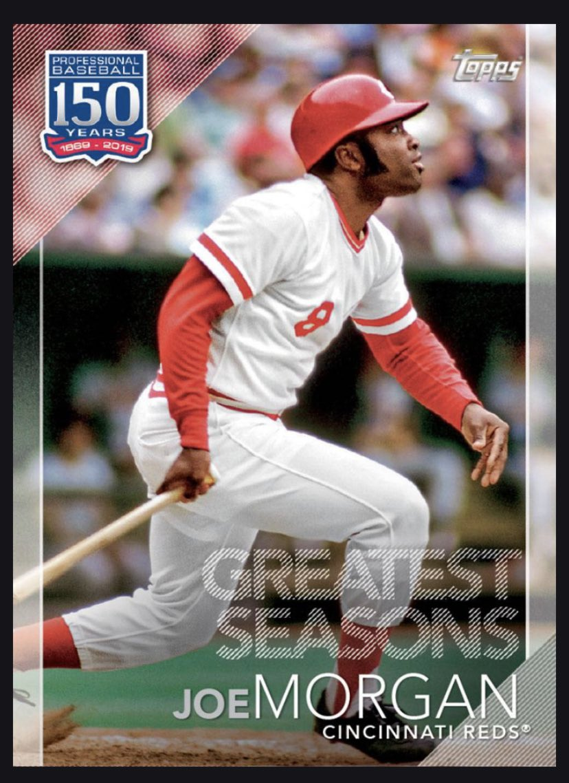 Just got 3 great Reds players in a trade on Topp's Bunt app. Joe Morgan, Tony Perez & Tom Seaver for a Greg Maddux card all while watching the Reds play a good game against #LetsGoBucs #TakeTheCentral #MLB #RedsVault https://t.co/6xQoMNKROm