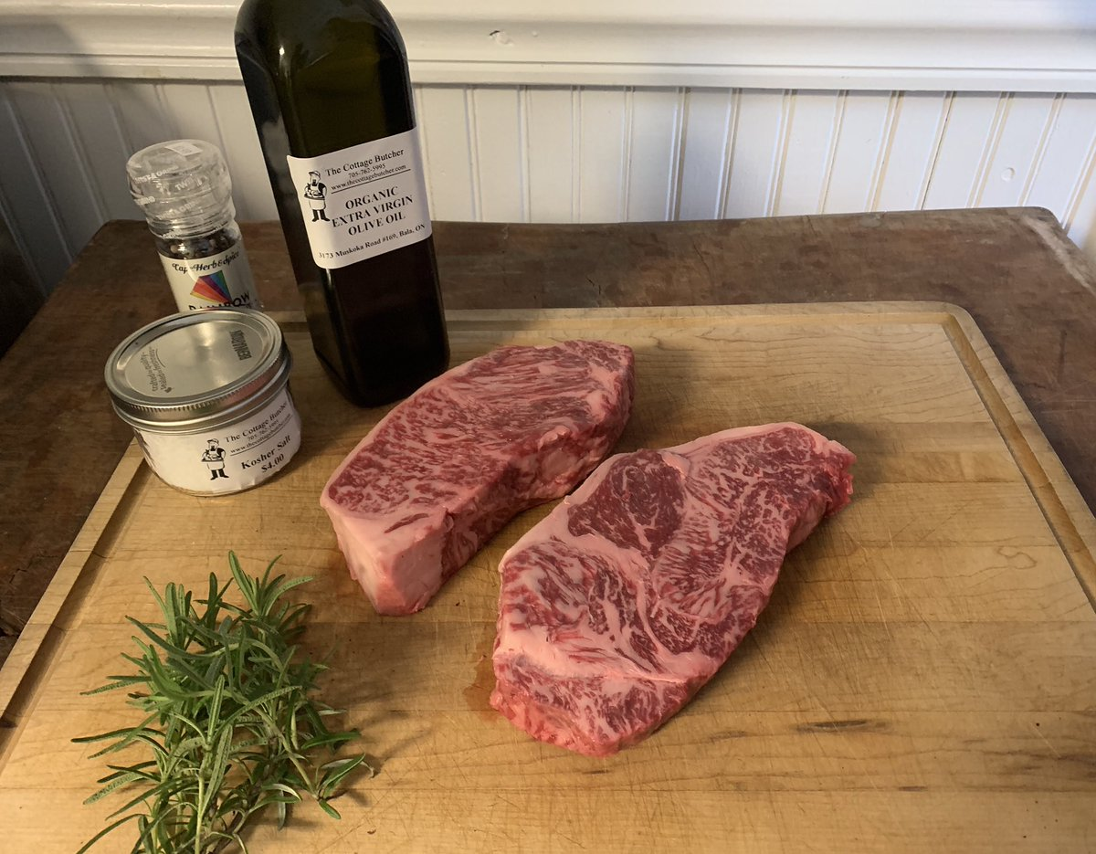 ⭐️ ⭐️ ⭐️ ⠀ Wagyu Striploin  If there ever was a time to treat yourself, it's now...the last weekend of summer. ⠀ Come in this weekend and get yours!⠀ ⠀ #wagyu #wagyubeef #wagyusteak #bala #shopbala #muskoka #shopmuskoka #shoplocal #whatthebutchereats⠀ #thecottagebutcher https://t.co/mH6UpQrDjz