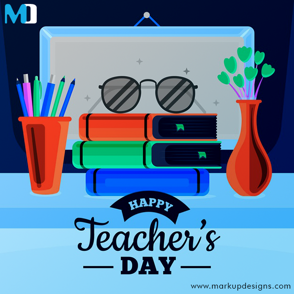 Everyone who remembers his own education remembers teachers, not methods and techniques. The teacher is the heart of the educational system.  Happy Teacher's Day!!  #HappyTeachersDay #TeachersDay2020 #MakrupDeisgns https://t.co/fLZCZDsXtm