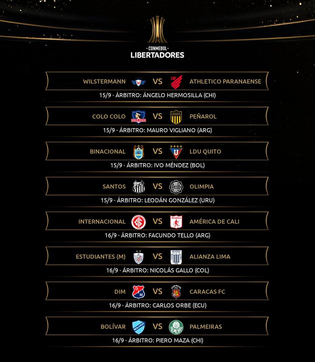 📌 ¡Árbitros confirmados para la vuelta de la #Libertadores, para la tercera fecha de la Fase de Grupos! 🙌🔜 La Copa se reanuda en 11 días, el 15/9.
