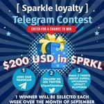 Image for the Tweet beginning: $SPRKL TELEGRAM CONTEST 🚨🚨🚨 💰Win $200