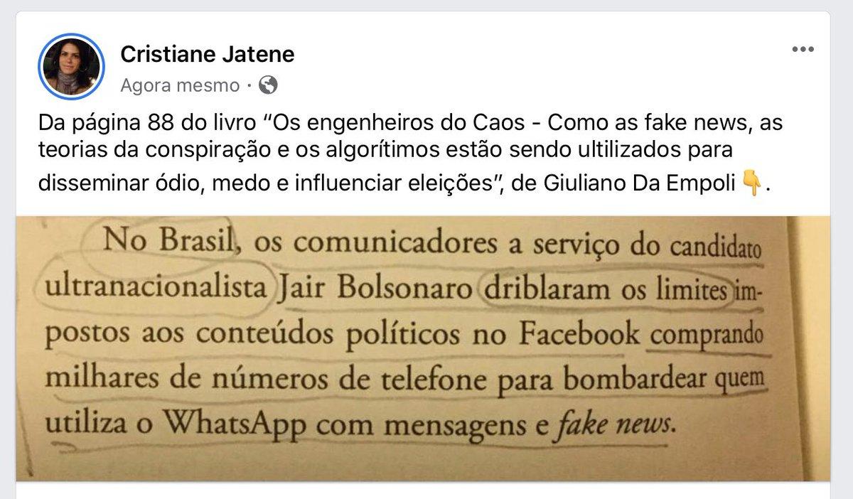 Cidadania se constrói com estudo, paciência, diálogo, dados de pesquisas e verdade. Livro imperdivel de @giulianode #FakeNews #eleições2018 @Haddad_Fernando @ManuelaDavila #Brasil https://t.co/qsfgIekWOc
