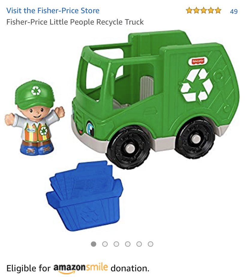 When a 2 1/2 year old asks why we dont have a garbage truck 😞 in the classroom. Anyone want to generously gift us a recylcle truck instead? We'd be extremely grateful. https://t.co/qgQzLBamgm @amazonwishlist @amazon @ClearTheListorg #clearthelist #clearthelists https://t.co/1z3Td5o1sK