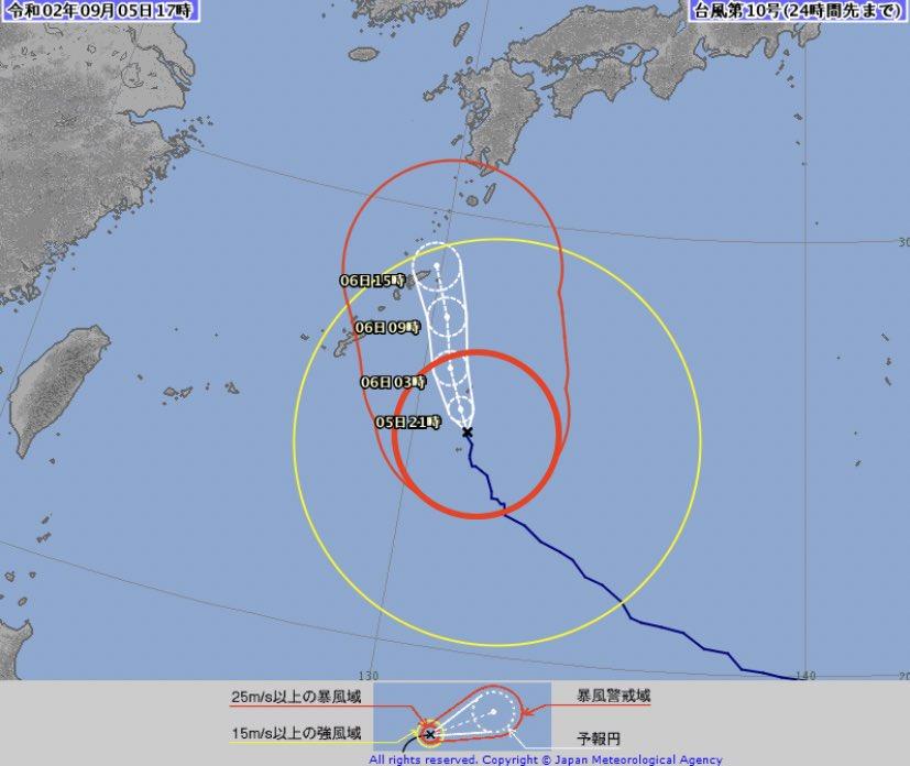台風10号の予報円が小さいのは予報の信頼性が高まってきたという意味で,台風の大きさが小さくなったり弱くなるという意味ではありません.台風は特別警報級の勢力で6日にかけて大東島・奄美に接近,6〜7日に九州にかなり接近・上陸のおそれ.どうかお願いです,命を守る為に早めの避難・安全確保を!!!