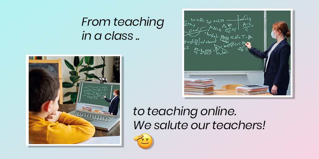 Crossing every hurdle and challenge to teach us #HappyTeachersDay  #happyteachersday2020 #onlineteaching #onlineteachers #teacherday #5thseptember https://t.co/Nz5CGMUVpR