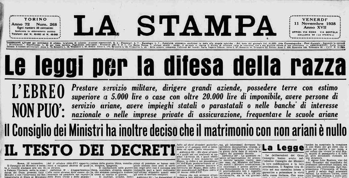 #5settembre 1938 Un'infamia indelebile! https://t.co/c4gCnKHoVI