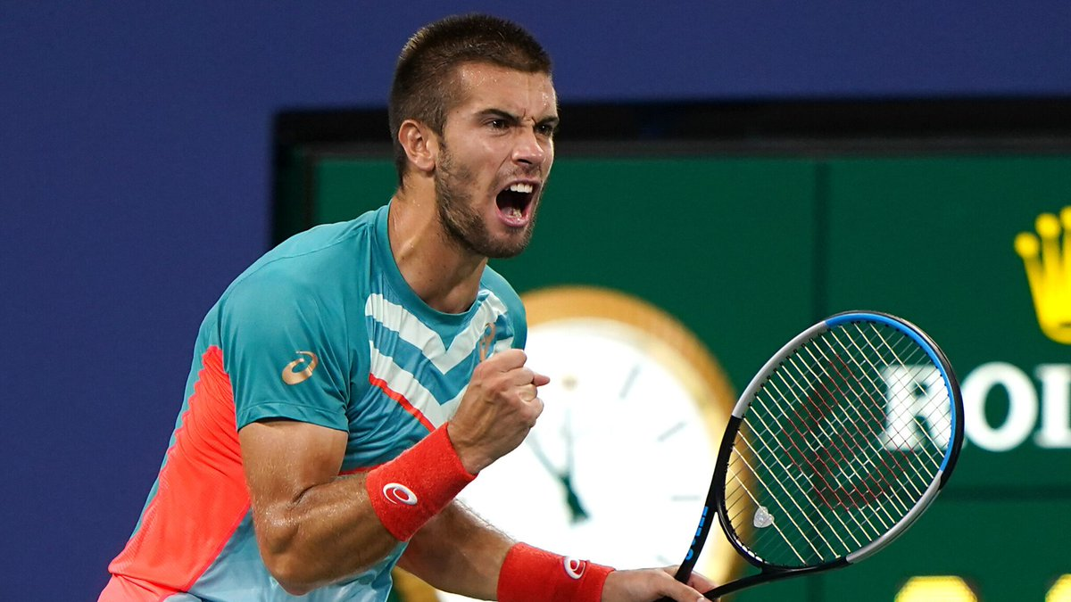 Un-believable.  Borna Coric comes back from 1-5 down in the 4th set, saving six match points, and beats 4th seed Stefanos Tsitsipas 6-7(2), 6-4, 4-6, 7-5, 7-6(4), in 4h37, to reach the last 16 of the #USOpen.   He was down a break in the 5th as well...  1.10am in NYC. https://t.co/MPRePwuGGt