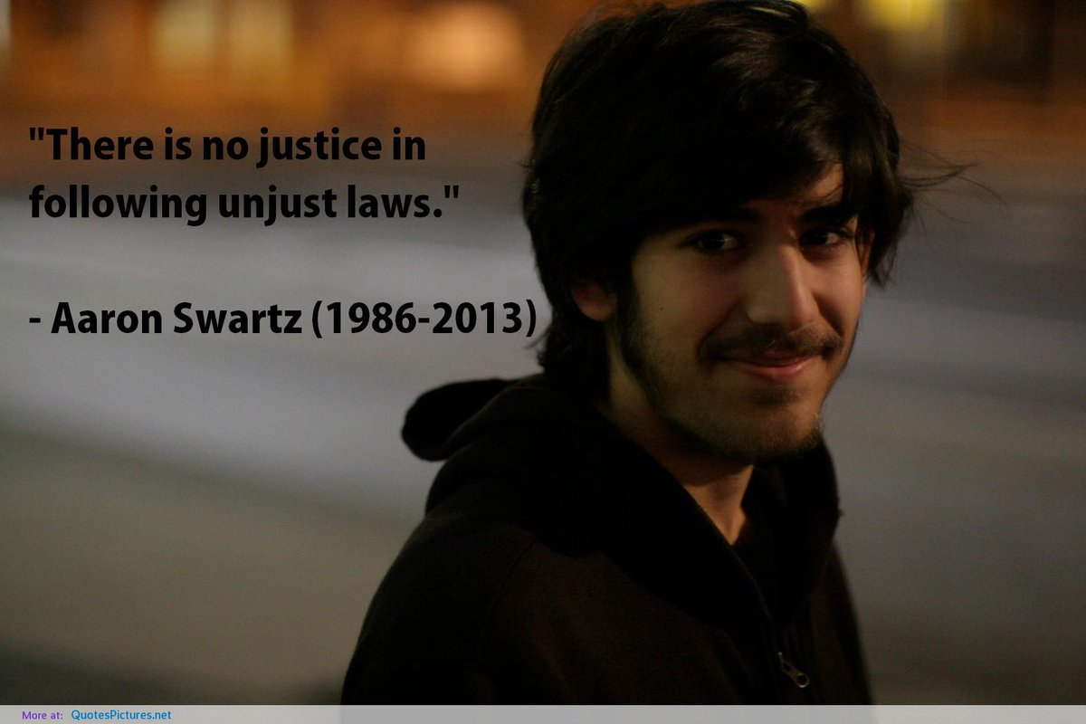 #aaronswartz #NoJustice https://t.co/G1UDUOfmLc