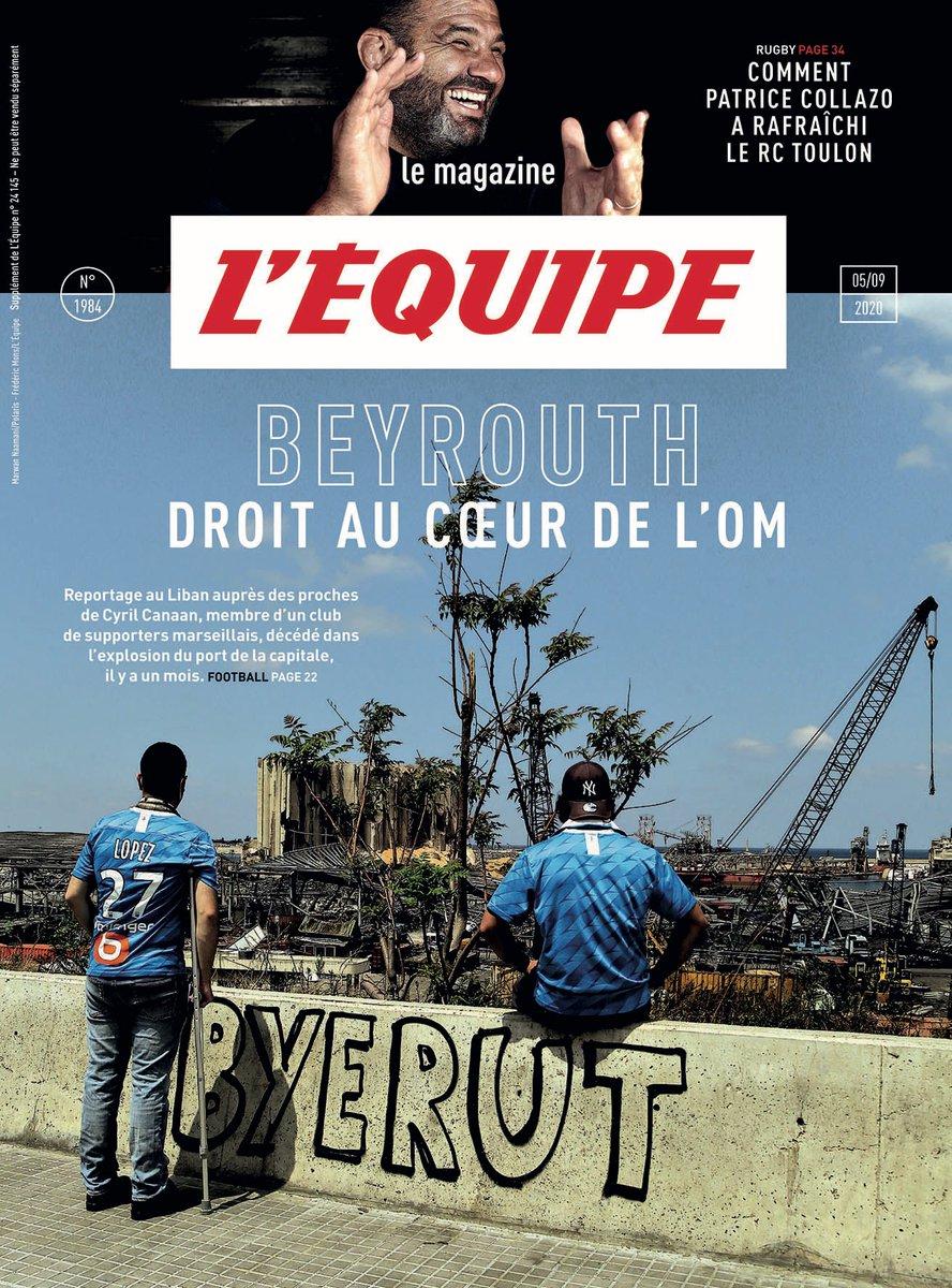 Dans @lemaglequipe, reportage à Beyrouth auprès des proches de Cyril Canaan, supporter de @OM_Beirut mort lors de l'explosion du port. Et:  ➡️Rugby: en immersion au @RCTofficiel  ➡️Médias: rencontre avec @Vanessalemoigne  ➡️On a couru le calvaire pyrénéen du Tour de France 1910 https://t.co/QLKGbt8R5X