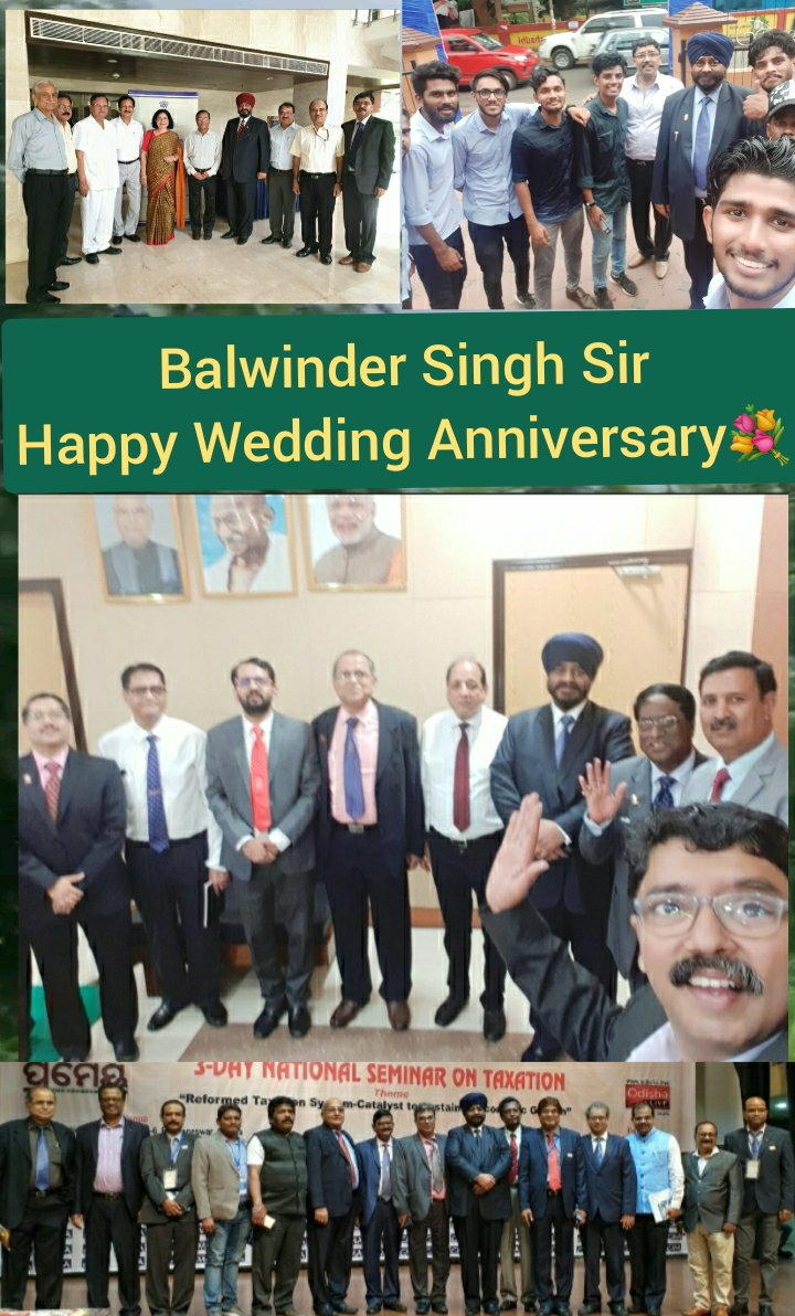 Wish You Balwinder Singh Sir and Madam dearest, Happy Wedding Anniversary to BOTH OF YOU💐  May Almighty Bless YOU BOTH ABUNDANTLY with good health and happiness always 🙏   Enjoy the Day & Year Ahead Sir @presidenticmai @ICAICMA @CmaRakeshSingh @AmitApte71 @ParmarAwtar @Akrur16 https://t.co/rCFuETpOvD