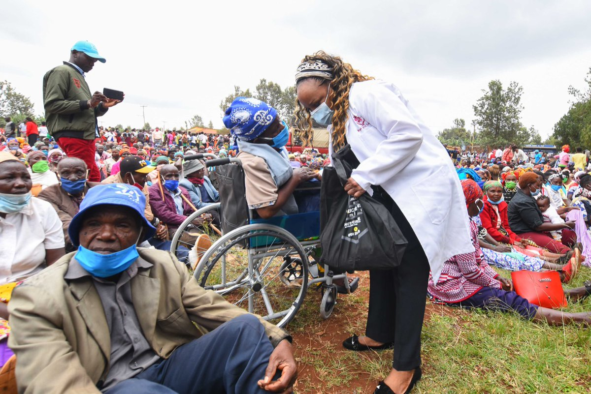 The food distribution programme continues in Kirinyaga central. Walking with our people and cushioning them to get through Covid times unscathed.