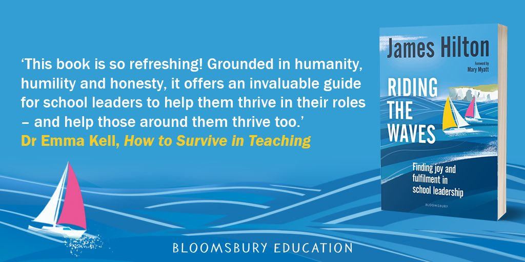 With practical strategies, advice, activities and reflective questions, Riding the Waves by @jameshilton300 is essential reading for all current and aspiring school leaders. #EduTwitter Find out more: https://t.co/5NGhWVXTGB https://t.co/3hRlj7O70Z