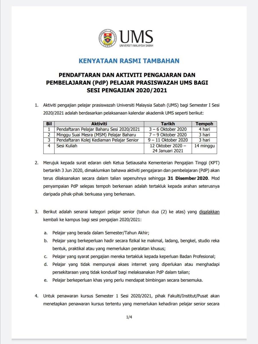 Jadual Kuliah Ums Semester 2 2019