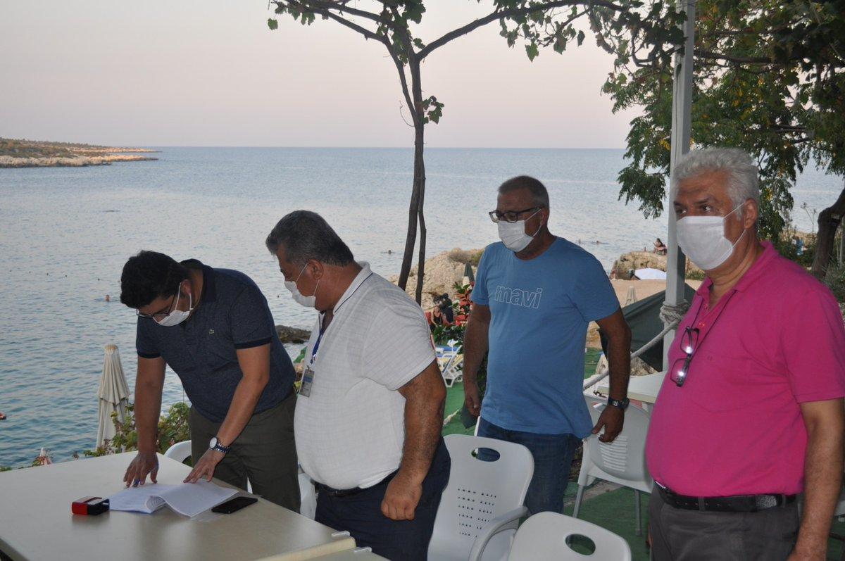 📌İl Müdürümüz @emreduru33'nun da katılım sağladığı turistik yeme içme tesislerinde 'COVID-19 Tedbirleri' kapsamında yapılan denetimler devam ediyor. 🏖️🍴🥗🕵️😷 #MersinKulturveTurizm @MehmetNuriErsoy @lutfielvan https://t.co/PGW9MVGmAX