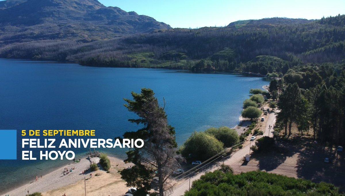 ¡Feliz 67°Aniversario #ElHoyo! Un fuerte abrazo a todos los vecinos, que con orgullo sueñan y hacen crecer año a año esta hermosa localidad de #Chubut. https://t.co/M0yr8oVRLJ