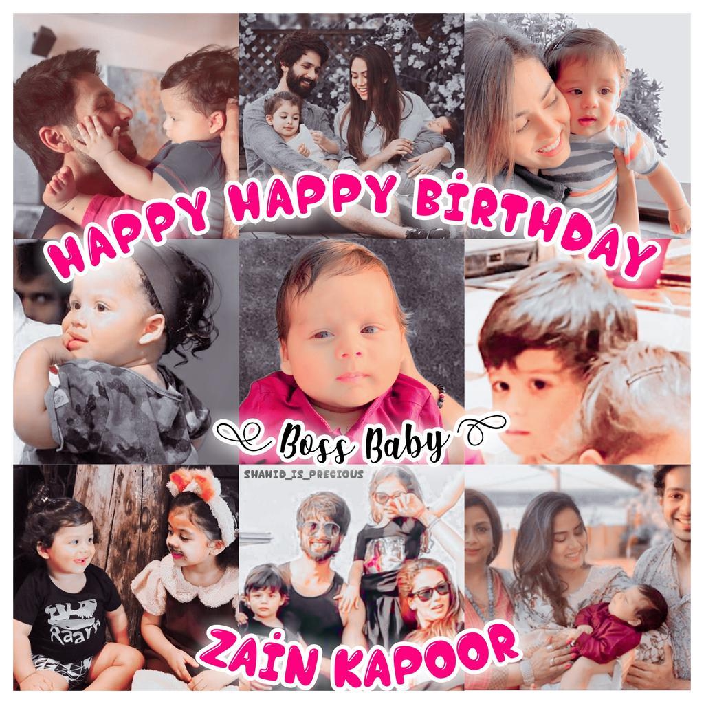 🥳Happy Happy Birthday Junior Kapoor Z 🤗😍😘 God Bless You Zizi Baccha ❤ Love you loads Mere Chhote Shahid 🥺🙈🥰 #HappyBirthday #ZainKapoor @shahidkapoor  @shahidkapoorFC @Shahid_Online @ShahidWebsite