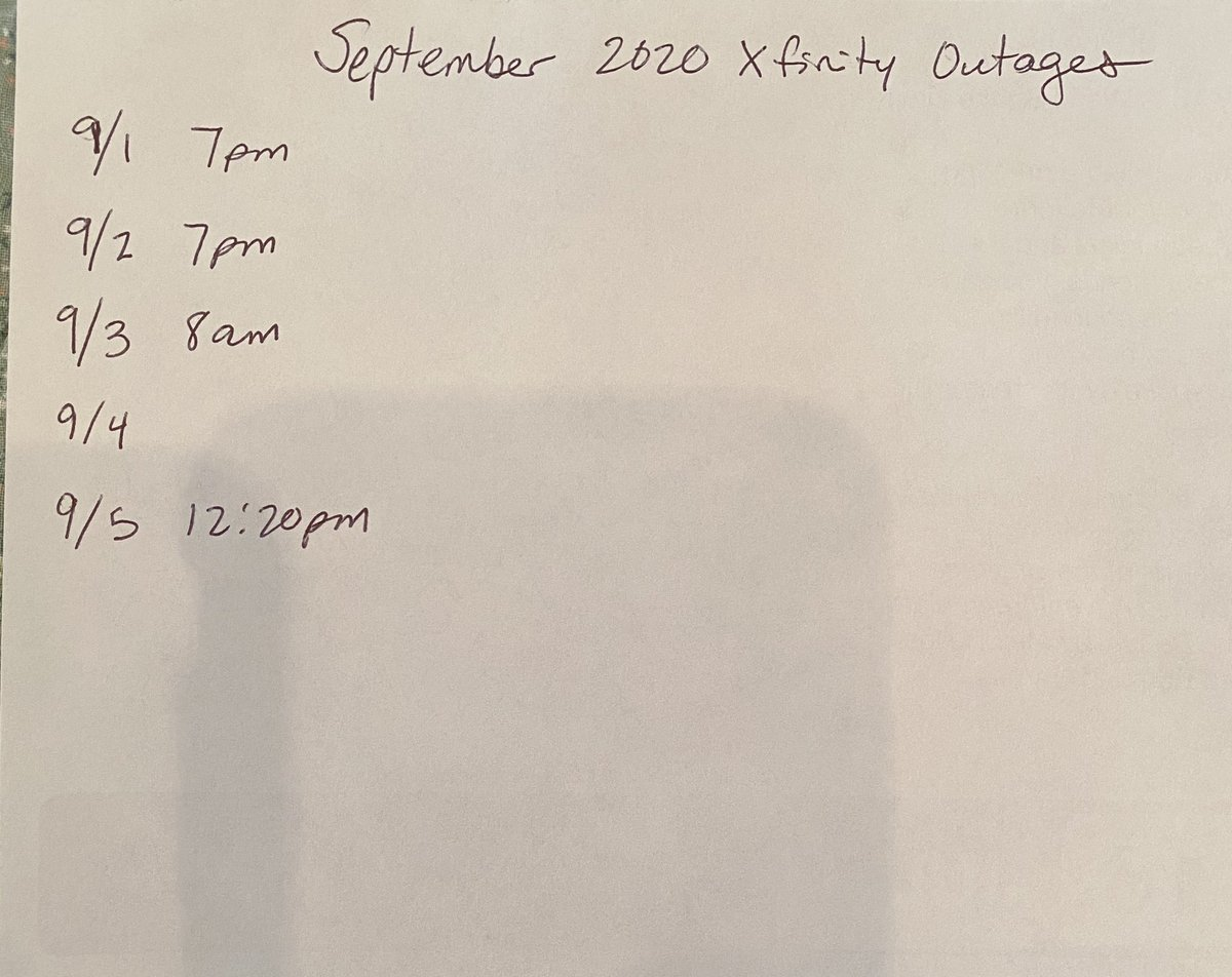 <a target='_blank' href='http://twitter.com/Xfinity'>@Xfinity</a> The problem isn't with devices, it's Comcast/Xfinity service outages. Currently 4 out of 5 days with interrupted service in my area this month. <a target='_blank' href='https://t.co/0NfINRgxGZ'>https://t.co/0NfINRgxGZ</a>