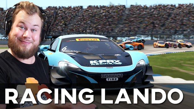 Jardier races Lando Norris