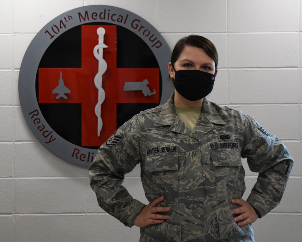 Check out Facebook to read about how Staff Sgt. Victoria von den Benken will be helping our Airmen as the first 104 FW behavioral health technician #barnestormer #usaf #aircombatcommand #massnationalguard #airnationalguard https://t.co/LJrriJPOte