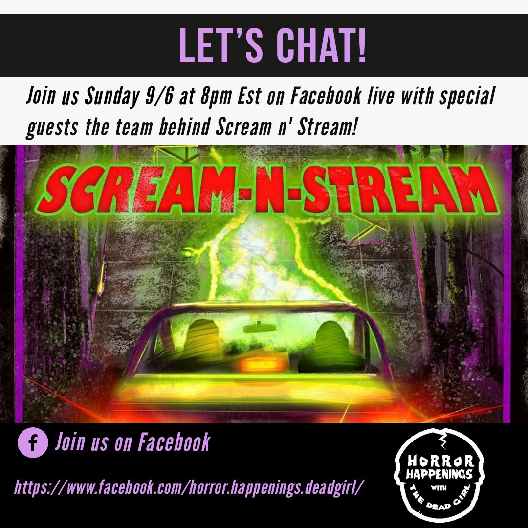 Dont forget to tune in tomorrow over on our Facebook page. Were going live! Well be chatting with the team from @screamnstream ! Central Floridas new drive thru haunt! #HauntTalk #joinus #screamnstream #interview #facebooklive