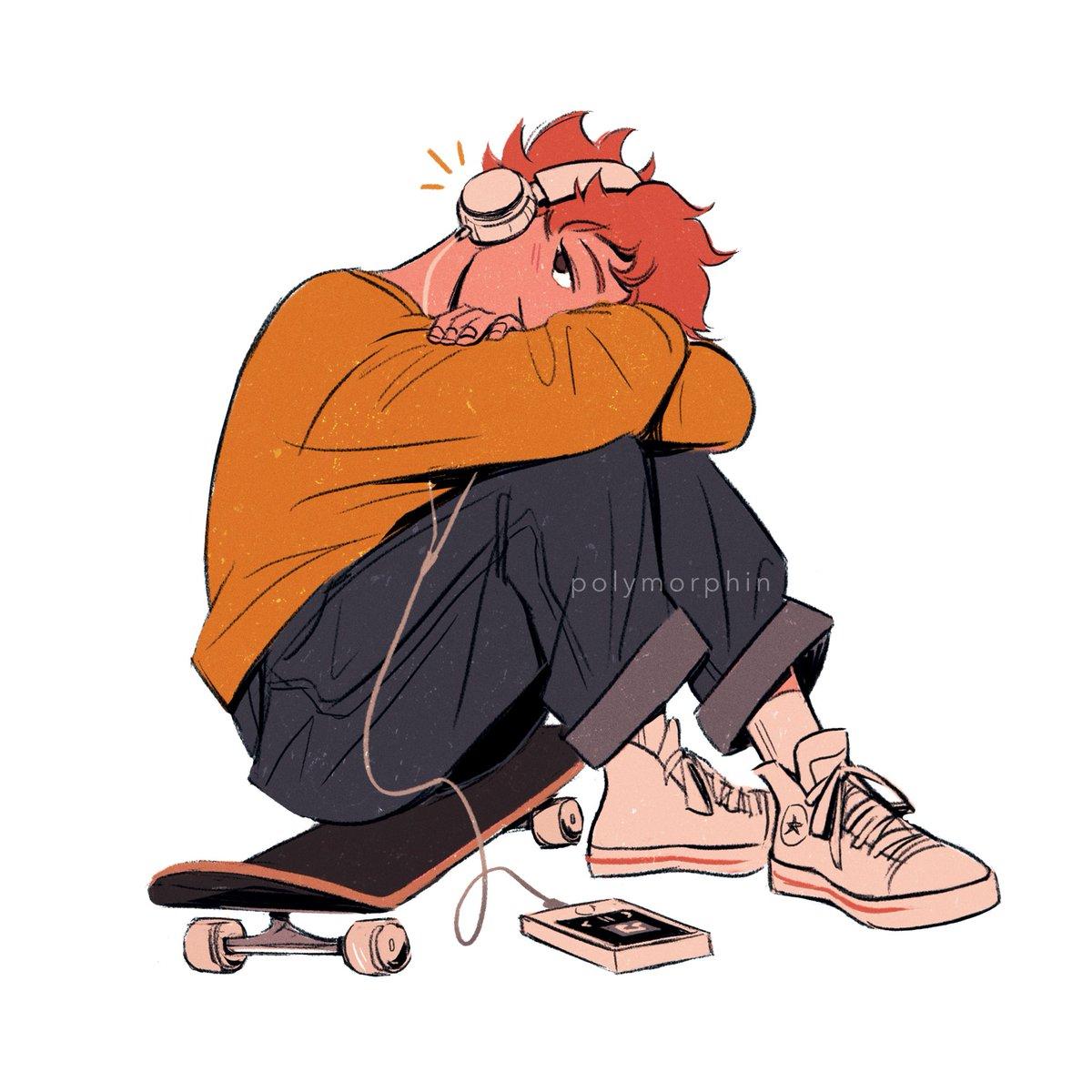 another skateboarder hinata doodle #haikyuu #ハイキュー ✨