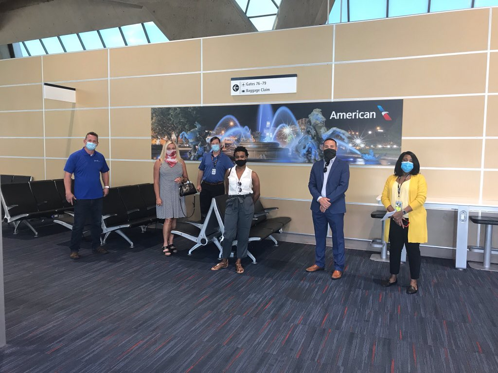 Last week we participated in the 2nd and 3rd @AmericanAir Customer Journey demonstrations of airport and airline health & safety measures. We welcomed major corporate travel managers & agencies so they can convey how the KCI team is ready for travelers when they are ready. https://t.co/XoHIiqkjrC