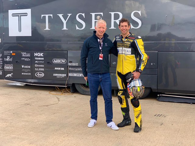 Our own Simon  @SharrisonGavin was delighted to be back with the racing and to see the Tysers name well represented with @TomTunstall @OfficialBSB @SilverstoneUK https://t.co/GBiwNOa7Pw