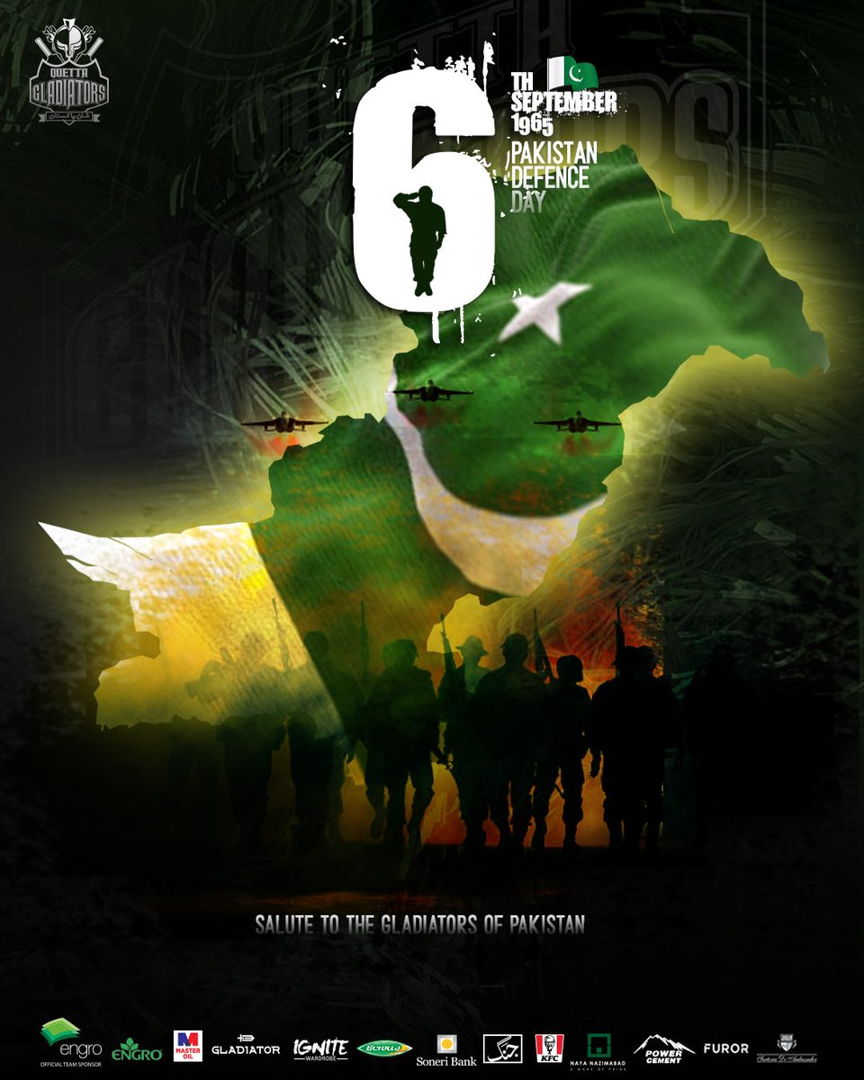 #KaiKaiPakistan🇵🇰  Salute to the Gladiators of Pakistan who defended the homeland with their great sacrifice !! #ShaanePakistan  ⚔️ We stand firm with our armed forces for the defence of our country 💚  #DefenceDay #PakistanZindabaad https://t.co/cD1JPbC6ON