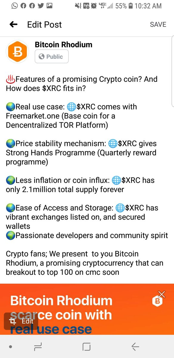 Bitcoin Rhodium unique attributes #XRC #StrongHandsProgramme #FreemarketOne #Cryptocurrency #Btc #DeFi #DecentralizedFinance #exchanges @BitcoinRh @BtcToTheMoonCom @Henry_XRC https://t.co/sIE4h4LZau