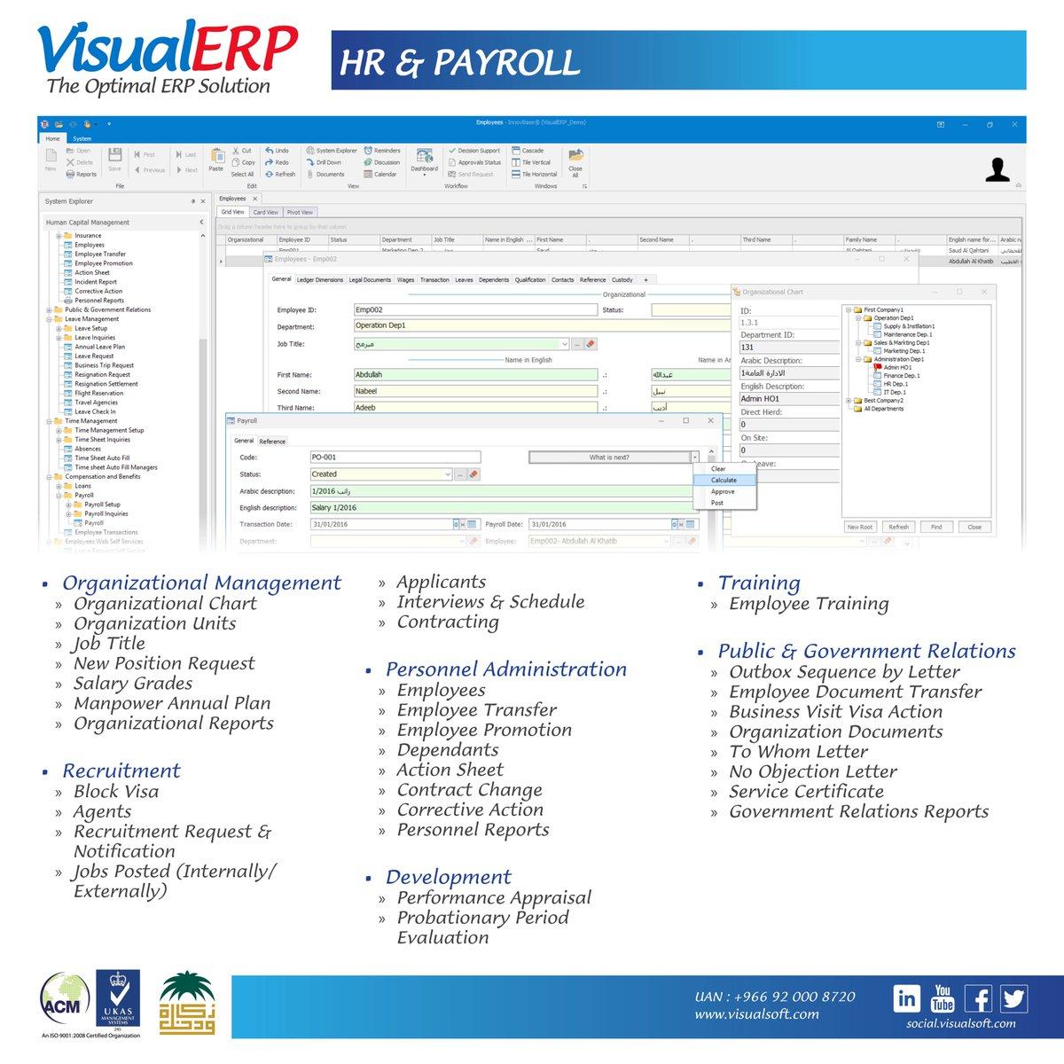 #VisualERP #Features  #HR #Payroll #Module #ERP