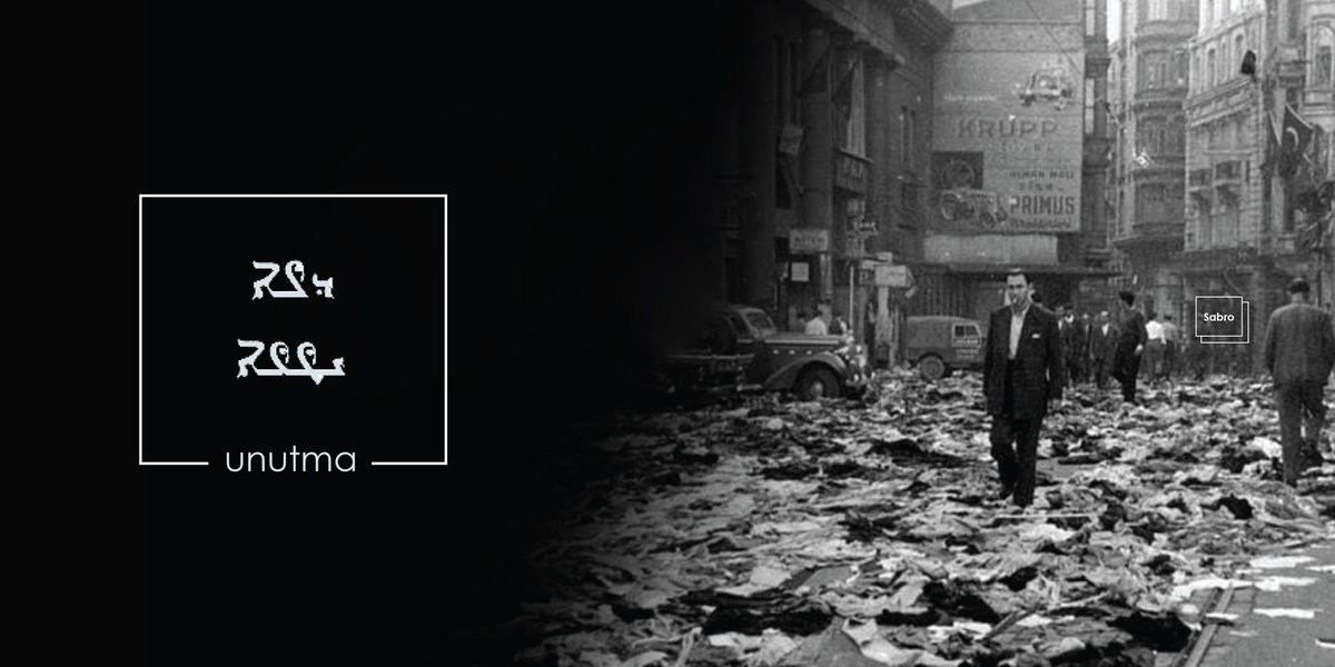Today, 6-7/9/1955, Istanbul Pogrom  Mainly against Rum community & other minorities occurred during these period residences, shops, churches, synagogue, monasteries, schools and 5317 other venues attacked, civilians killed. To note, also #Syriac community members were affected.