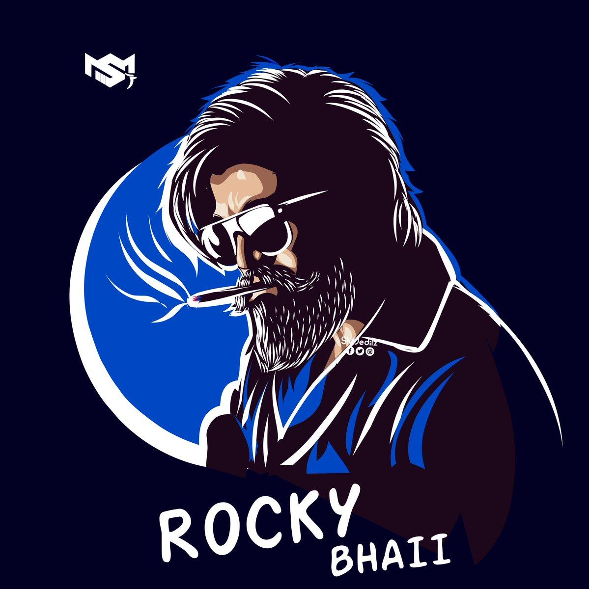 #Illustration artwork 🎨✍️  Rocky bhaii💥💥🔥   #KGFChapter2teaser  @prashanth_neel @hombalefilms  #WeWantKGFChapter2Teaser #smjeditz https://t.co/Mbh9ZLArmq