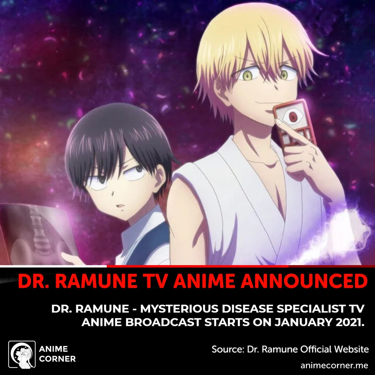 Anime Corner On Twitter Dr Ramune Mysterious Disease Specialist Tv Anime Announced For 2021 Read More Https T Co Oo8blvrs6q