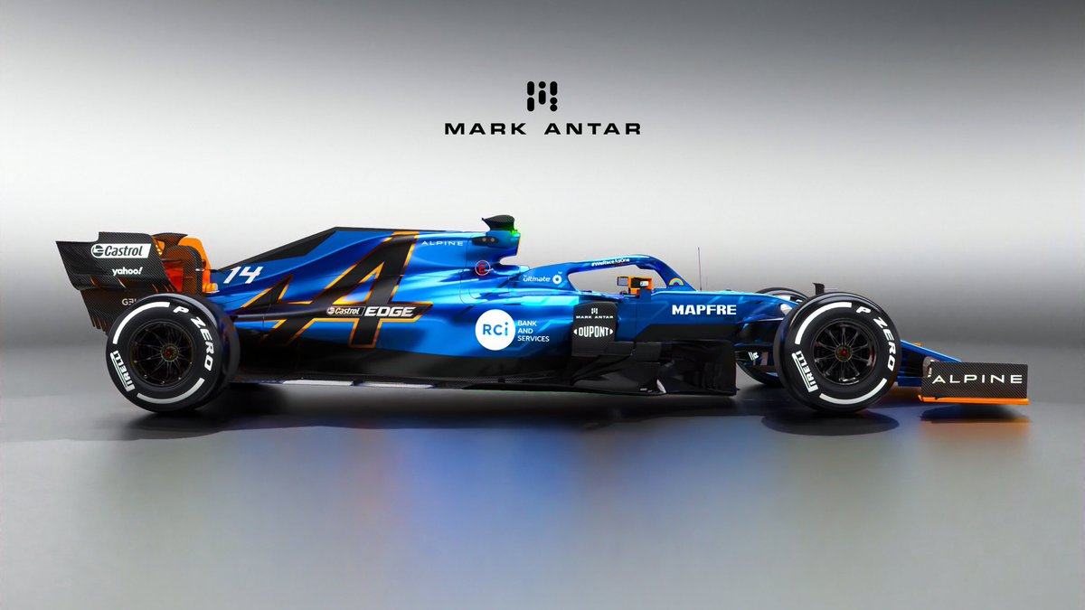 Mark Antar Design On Twitter Renault F1 Will Be Rebranded As Alpine F1 For The 2021 Season Here S My Take On A 2021 Alpine F1 Livery Using The Brand S Original Colours