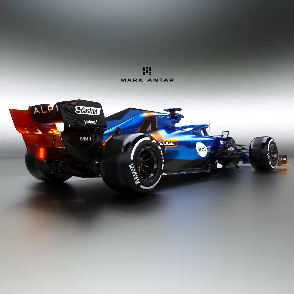 Mark Antar Design On Twitter More Angles Of My Alpine F1 Livery Renaultf1 F1 Liverydesign Alpine