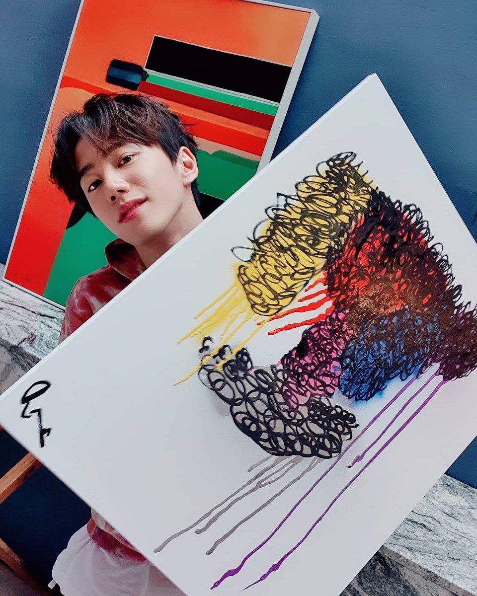Junyoung's art work when shooting for the Singles magazine.😍    #이준영 #LEEJUNYOUNG #유키스 #UKISS